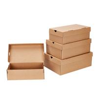 鞋盒纸盒收纳翻盖纸鞋盒原色牛皮尺寸厂家直销满10个包邮家用鞋