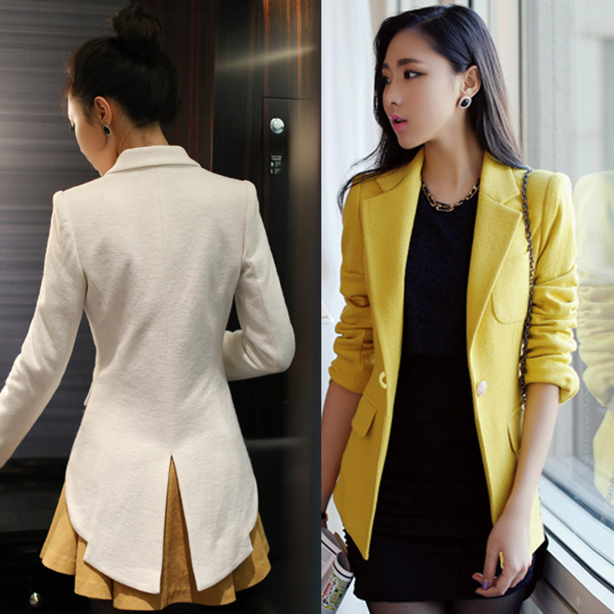 Подпружиненные корейской версии новый тонкий одна кнопка тонкий профессиональный элегантный темперамент Махаон re вилка малого куртка