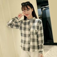 Korea's potential 2015 han edition new winter fashion euramerican style collar shirt, leisure shirt female temperament
