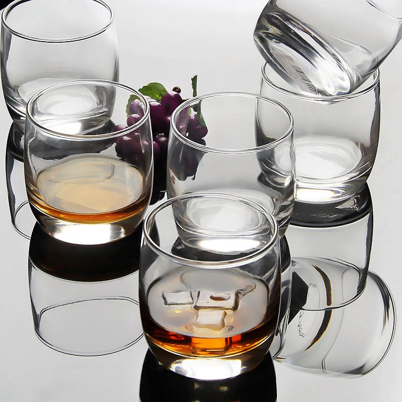 樂美雅弓箭6隻裝圓形威士忌酒杯洋酒杯玻璃杯啤酒杯烈酒杯水杯