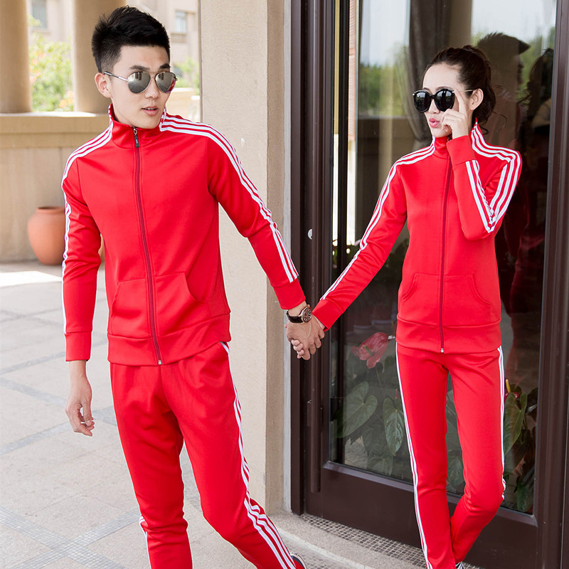 Тонкий воротник пара весной мужской спортивной спортивной одежды и одежды для отдыха форму дамы свитер активность потоков