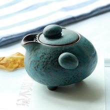 Coarse pottery teapot Kung fu tea accessories Ceramic tea ware Hand grasp pot