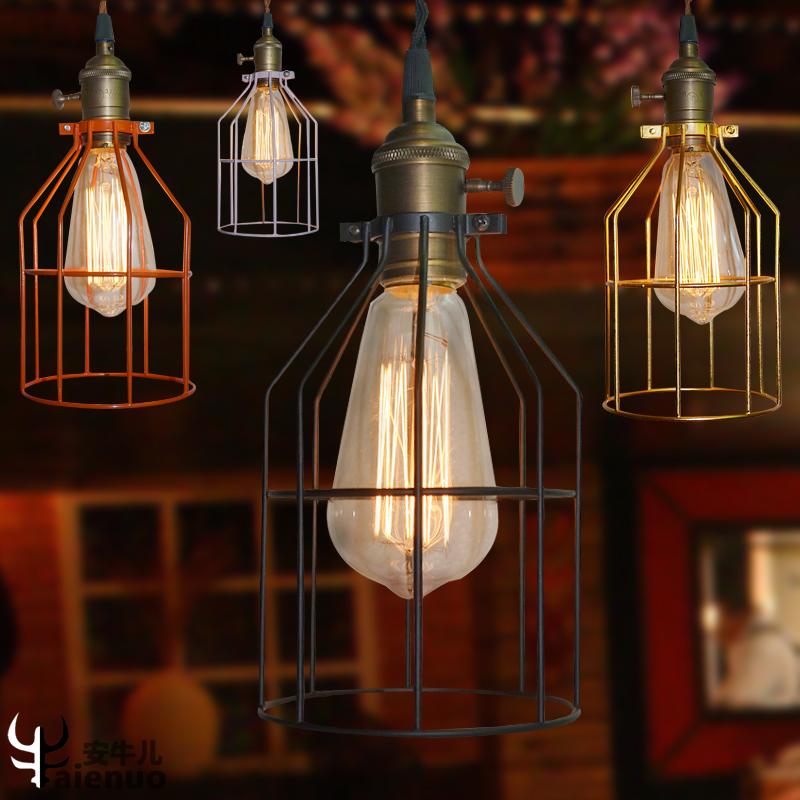 欧式家居鸟笼铁艺白色黑色红色金色黄色浅绿紫灯具餐厅服装店吊灯