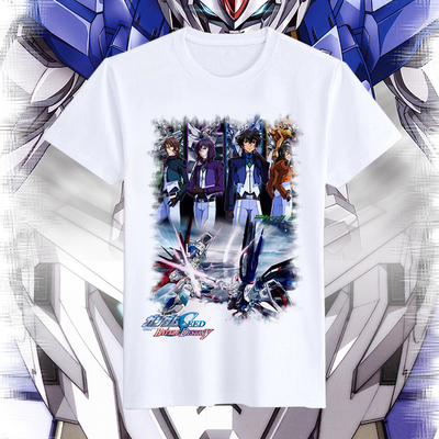Original gundam anime peripheral gundam UC unicorn surrounding men's and women's short sleeve T-shirt