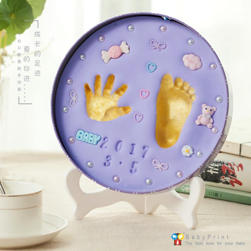 Детские руки достаточно штемпельная подушечка новорожденных сто день полный год руки и ноги штемпельная подушечка ребенок ребенок отпечаток руки след собирать годовщина статья