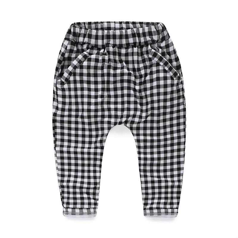 2015 осень корейской версии новых мальчиков и девочек Детская одежда baby ребенка плед брюки случайных брюки kz-0946