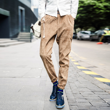 35 y new men corduroy feet pants Cultivate one's morality comfortable male pants trousers slacks male national wind men's trousers
