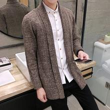秋冬男士毛衣中长款针织衫修身韩版开衫线衣外套男毛衫M028 P78