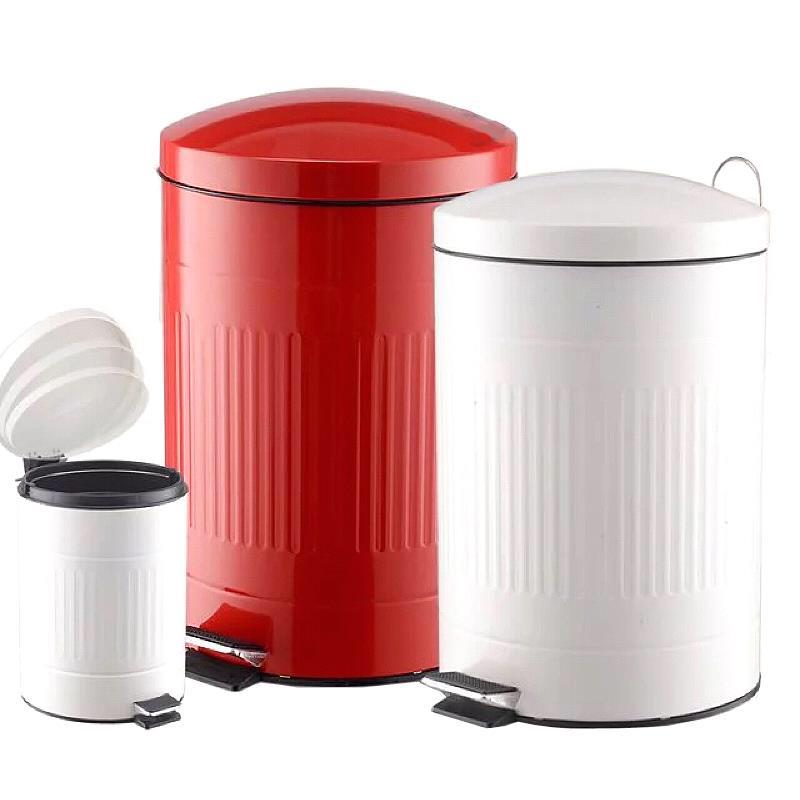 加厚不鏽鋼腳踏垃圾桶大號靜音 廚房客廳室內家用有蓋垃圾桶