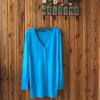 宽松大码毛衣中长款针织衫开衫女装韩版薄款夏季外套空调衫防晒衣