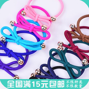 15 yuan Korean version of the beans bow tie hair wild hair ring hair rope rope rubber band hair ornaments Kim