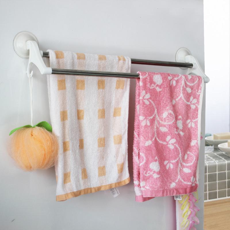 Я существует ванная комната мощный типа чашки всасывания супер для полотенец ванная комната нержавеющая сталь двойной поляк полотенце стойка полотенце поляк
