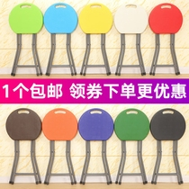 Plastic Folding Stool Stool Chair Home Chair adult table high round stool small bench simple portable backrest outdoor