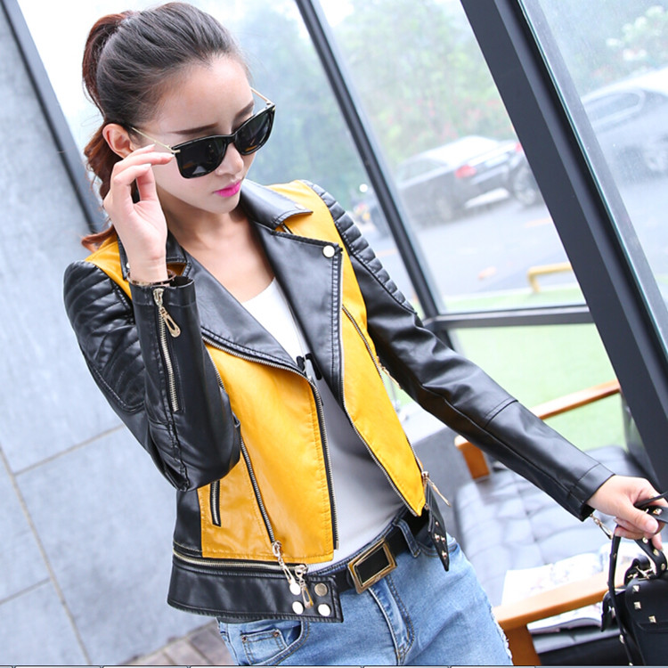 New high end womens leather jacket in spring and autumn of 2019