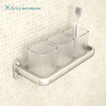 Ogi Creative Space Aluminum parent-child Glass mouthwash cup rack couple brushing cup rack tea rack Family cup rack set