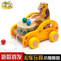 Перетаскивание игрушечной веревки для одного года мужской детские Пазл-трейлер 1-2-3 года на младенца Ребенок 8 месяцев ходунки