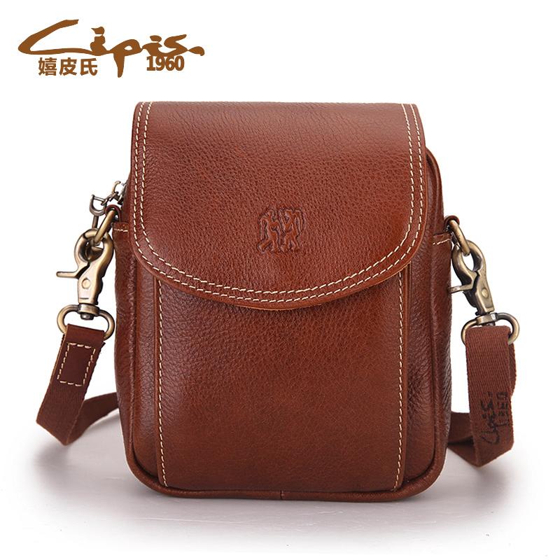 Хиппи мини сумка кожа женщин мешок Корейский досуг Диагональ небольшой заголовок слой кожи небольшой мешок от Kupinatao