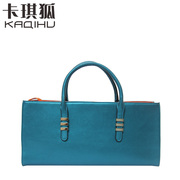 Kaqi Fox new fashion handbags leather Lady bag handbag large bag air in Europe and America long bi-fold wallets