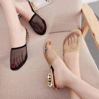包头女夏中跟外穿韩版简约防滑女鞋