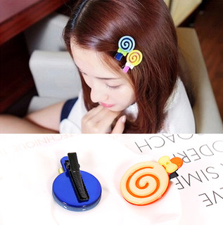 Know Richie mini Candy-colored small side clamp acrylic Duckbill clamp Korea hair jewelry cute bangs clips