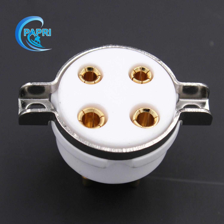 GZC4-T-G 95 хорошо созданный керамический 4-контактный трубки разъем разъем для 300B/2A3 и другие