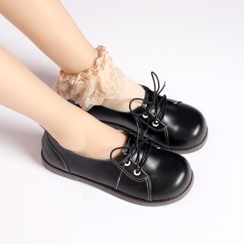 Japanese Hefeng round head flat bottom soft shoes JK uniform Lolita loli maid shoes student free dance package