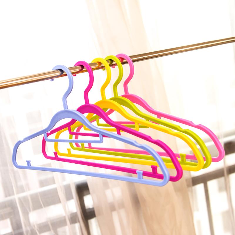小米妈妈彩虹塑料衣架 防滑衣挂裤架 干湿两用挂衣服晾衣架