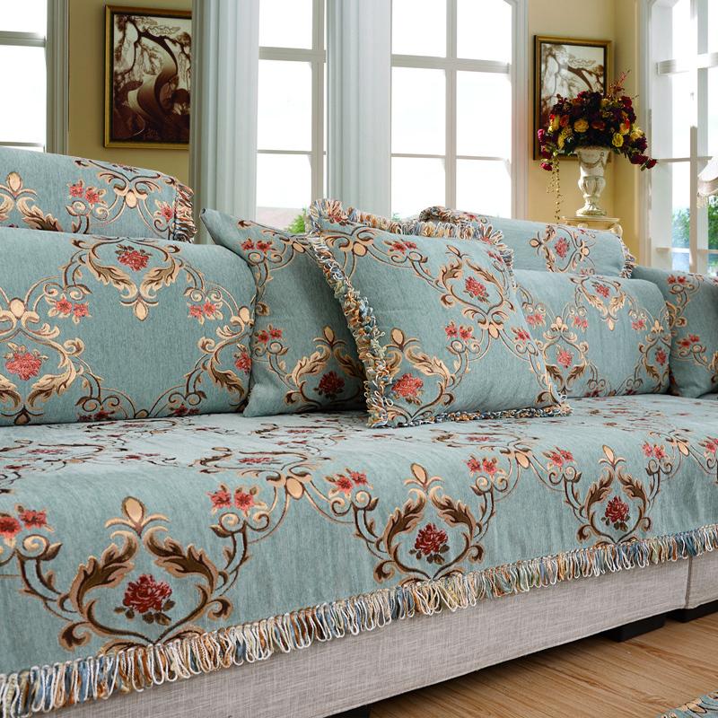 定做定製歐式田園沙發巾四季 沙發坐墊布藝防滑沙發墊春夏
