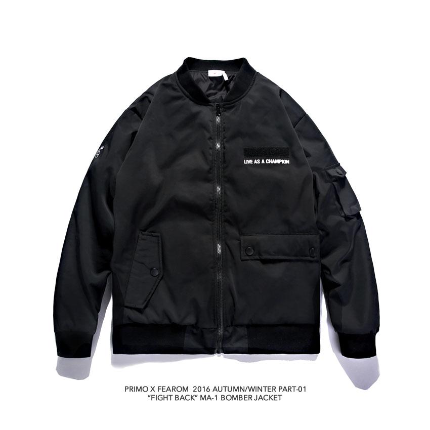 PRIMO x FEAROM 2016AW MA1 Bomber jacket夹棉飞行夹克外套 黑