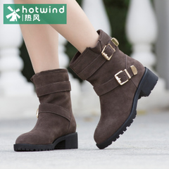 Hot winter boots suede bovine leather sleeve boots casual shoes boots 75H5923