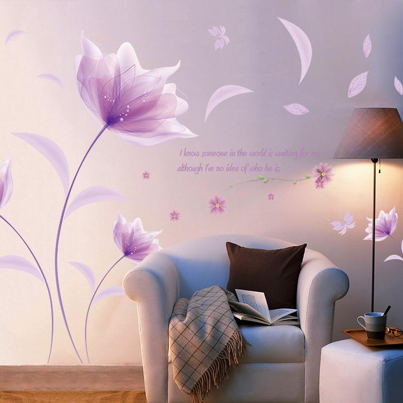 Творческий наклейки для стен гостиная спальня теплый романтический прикроватный комната декоративный стена наклейки самоклеящийся стена на наклейка аппликация