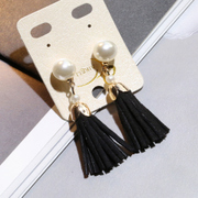 Knowing Minnie Pearl tassel earrings earrings jewelry Korean temperament Joker Ding Er ear ornaments fashion accessories women