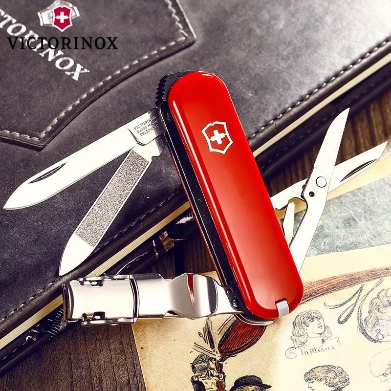 瑞士军刀正版维氏指甲刀户外65mm迷你小刀0.6463系列多功能折叠刀