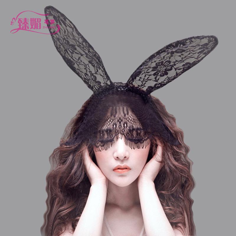 Головной убор сексуальный кружево пирсинг аксессуары кролик голову украшения составить танец может партия мода кружево заставка монтаж 236