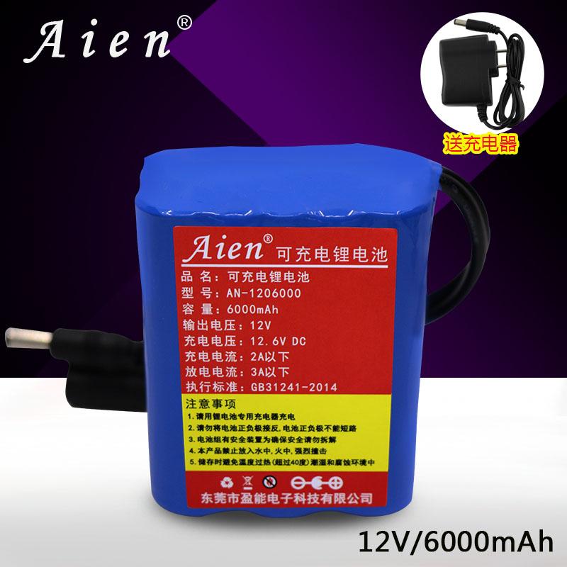 18650 литиевые батареи, зарядки группа 6000mAh12V зарядное устройство батарея группа кадриль звук динамик LED свет резервное питание бассейн