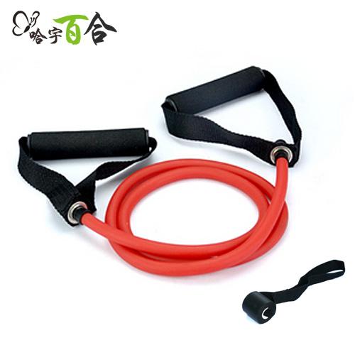 拉力繩健身健美瑜伽鍛煉普拉提一字拉力繩彈力繩阻力帶健身繩包郵