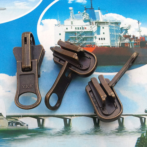 VAT guaranteed real YKK bronze automatic lock No.8 double-sided head, half gourd head and resin zipper tape