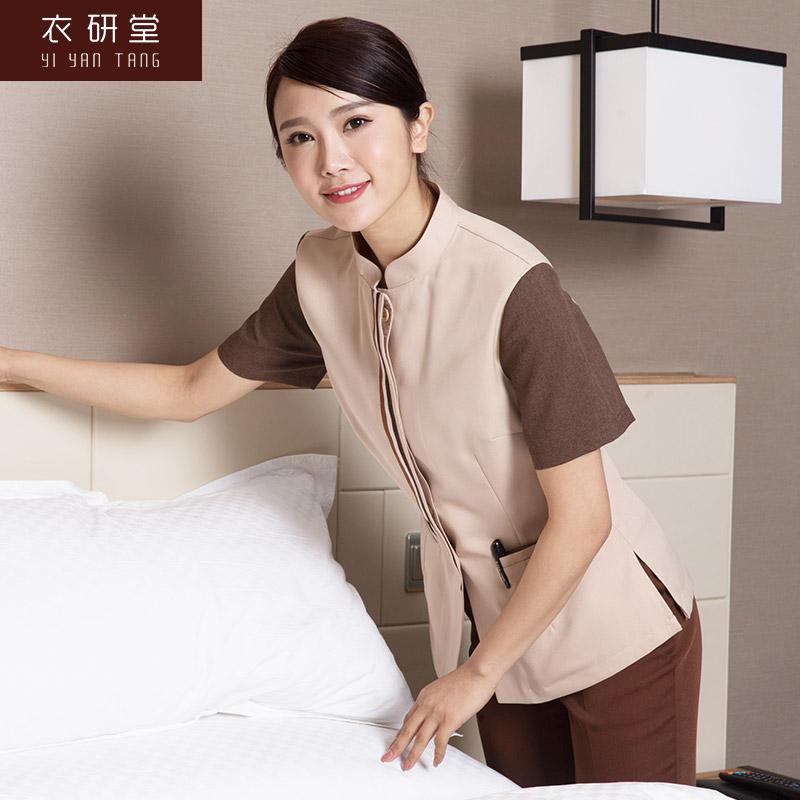 衣研堂保洁员工作服女物业酒店保洁服短袖夏装宾馆客房服务员服装
