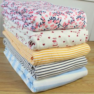外贸裸睡超柔纯棉针织汗布双人被套全棉被罩单件尺寸1.5-1.8*2米