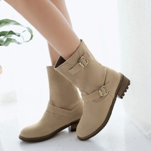 British round head of new fund of 2015 autumn winters is low documentary boot comfortable frosted short boots sleeve lazy knight boots boots
