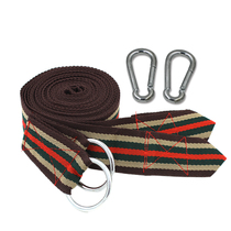 Reinforced hammock high-strength nylon tie rope upgrade spring steel buckle strap load-bearing good