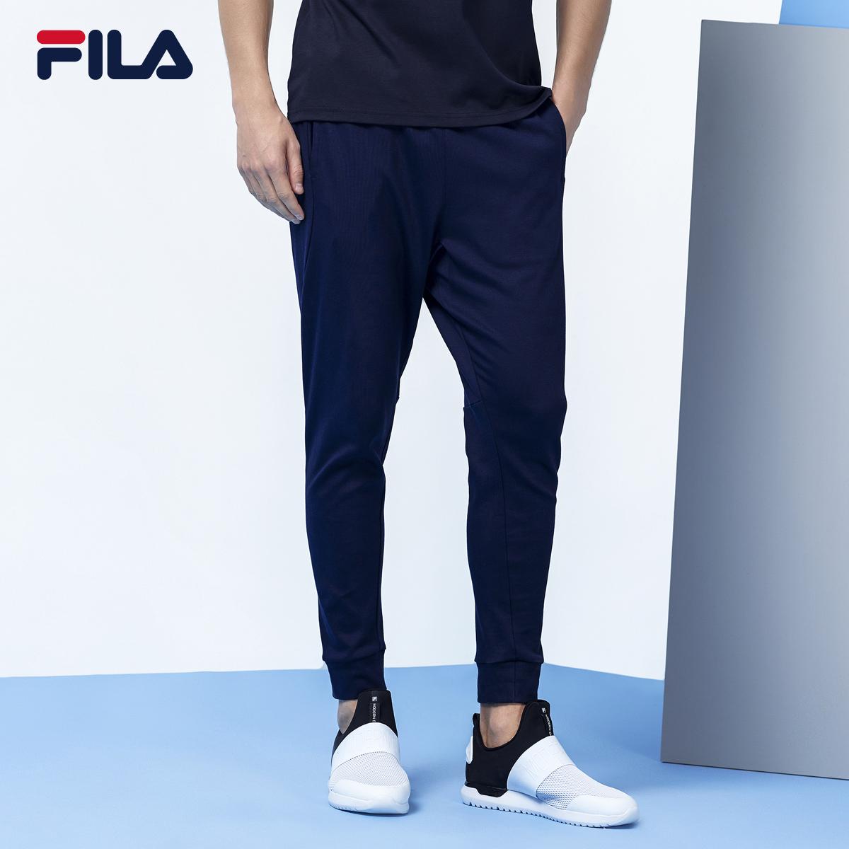 FILA斐乐男裤春季季新款针织纯棉运动长裤男|25733740