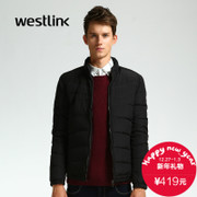 Westlink/West New 2015 winter simple solid-colored thick warm slim men's down jacket