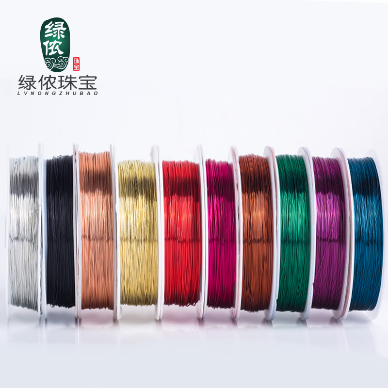 Зеленый леннон украшенный бусами бисер провод линия ведущий надеть шарик инструмент браслет браслеты ведущий игла DIY ручной работы