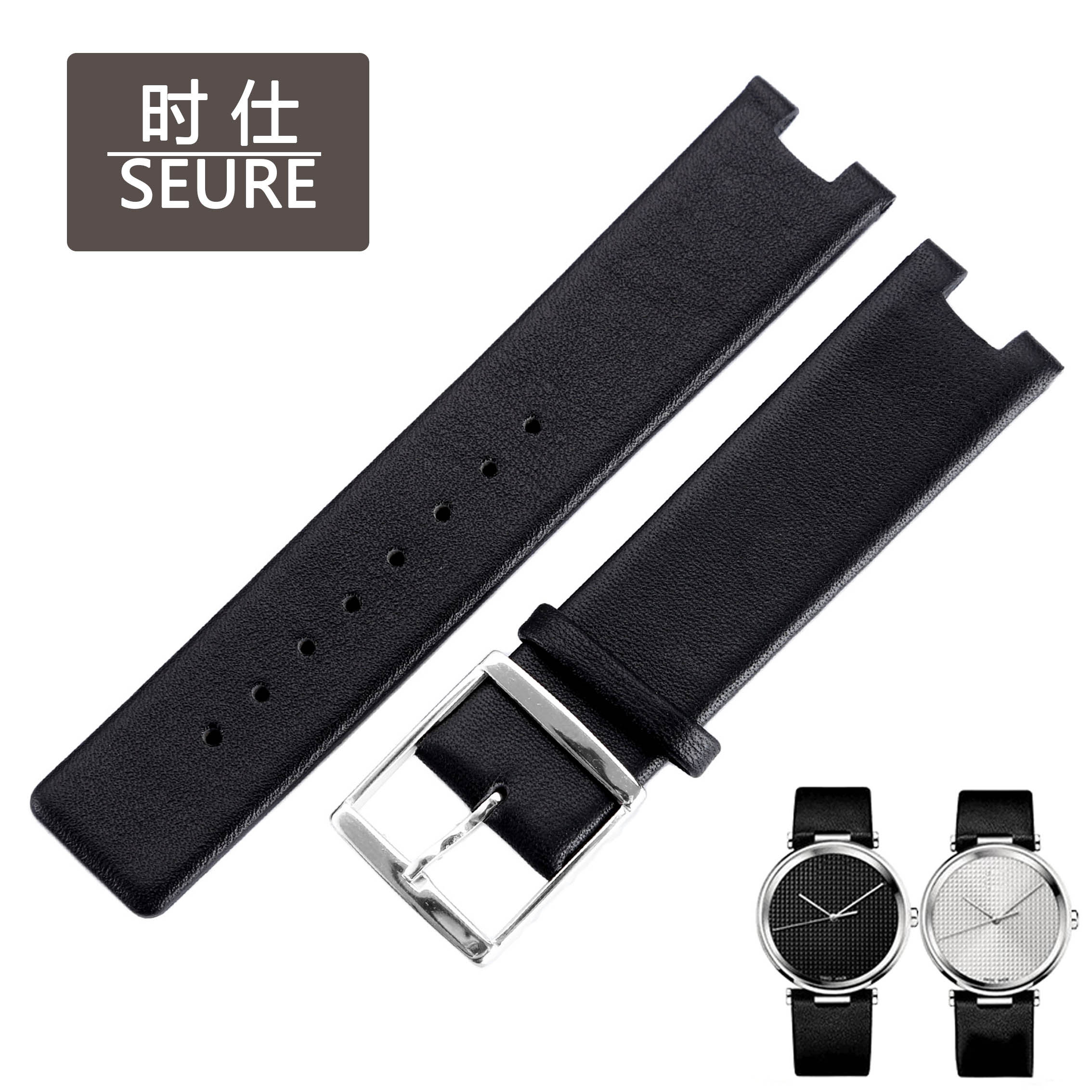 時仕 CK表帶K1S21120 K1S21102 KIS21100真皮皮帶手表帶凹口
