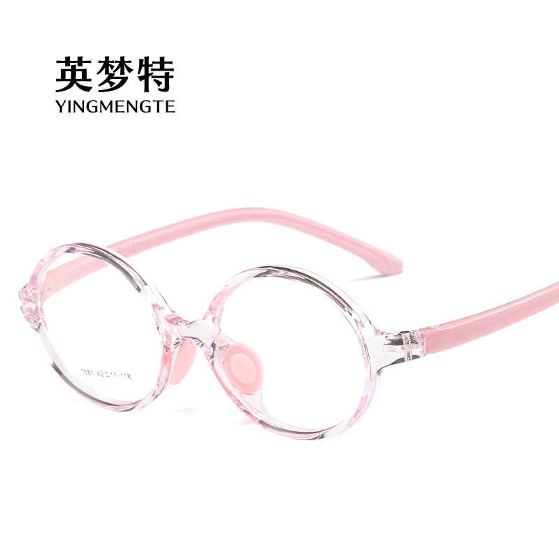 Childrens spectacle frame 2020 no lens for men and women childrens fashionable spectacle frame lovely round, can be equipped with anti blue light myopia