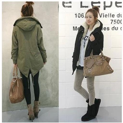 Новый 2014 в корейской версии утолщенных ягненка вниз пальто долго с капюшоном длинный рукав щели в смокинг пальто