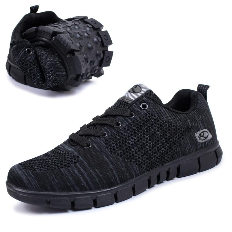 Спортивная обувь осень/зима мужчин старые кроссовки папа четыре супер кроссовки дышащие Пожилая ходьбы обувь кроссовки черный