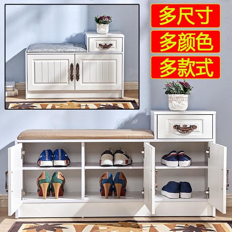 Ворота рот менять обувь стул континентальный хранение обувной дерево простой современный продвижение ворота может сидеть хранение табуретка обувная полка обувной табуретка стиль