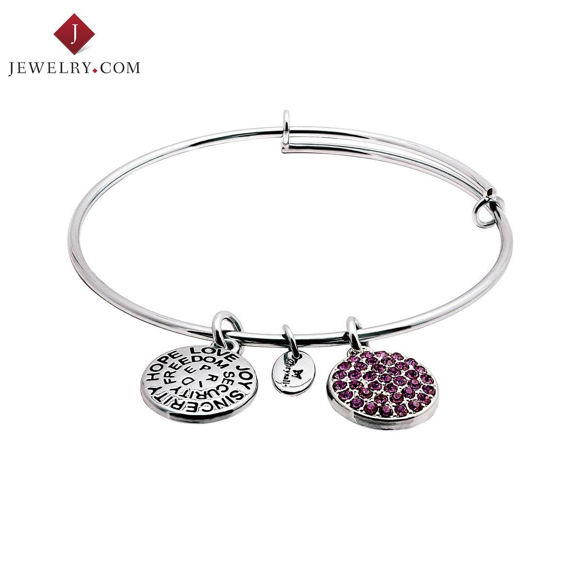 Chrysalis удачи серия серебро тонкий срез женский браслет мозаика фиолетовый сваровски мир странный элемент кристалл